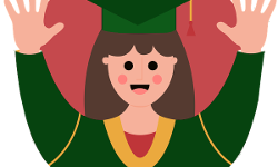 Female Graduate Icon 250 px
