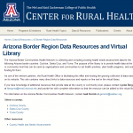 Arizona Border Region Data Resources and Virtual Library