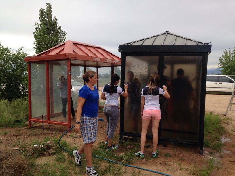 Healthy Farms Installs Bus Shelters in Winchester Heights Az