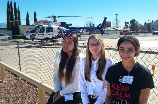 L-R Aida Tona, Selenas Rivas, and Yasmin Boone