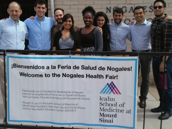 Outside the Nogales Senior Center during the health fair
