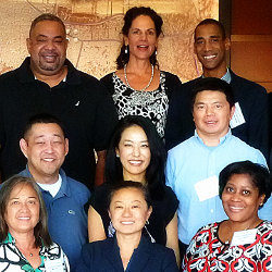 Gail Emrick in Los Angeles with US Pacific and Southwest Regional Health Equity Council Colleagues thm