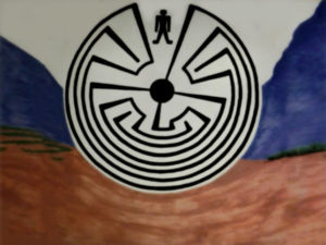 "The ""Man in the Maze"" mural"