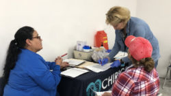 Chiricahua Staff are able to meet with Winchester Heights residents at the new community center, improving access to health care and information.